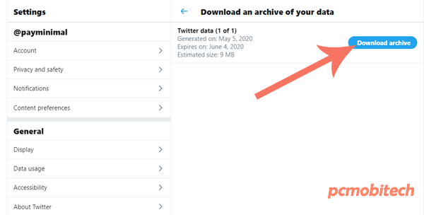 Download-Twitter-Archive-Data